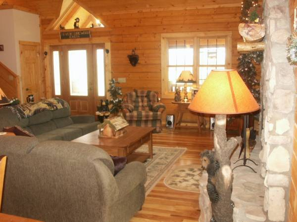 Cabin w/ Pine trees/Lodge decor/wood fireplace.jpg