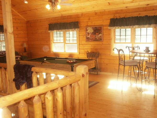 Open Loft w Pool Table