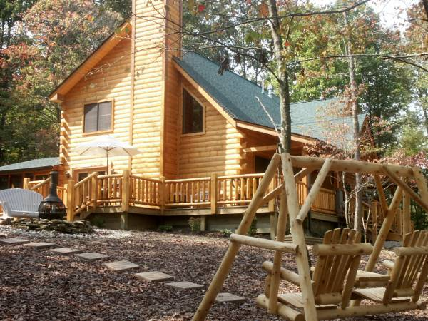 Log Cabin w/ log swing & outdoor fire-pit.jpg